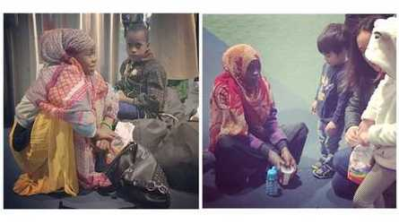 Photos of Somali refugees as they wait at the airport for a ride to their new home.